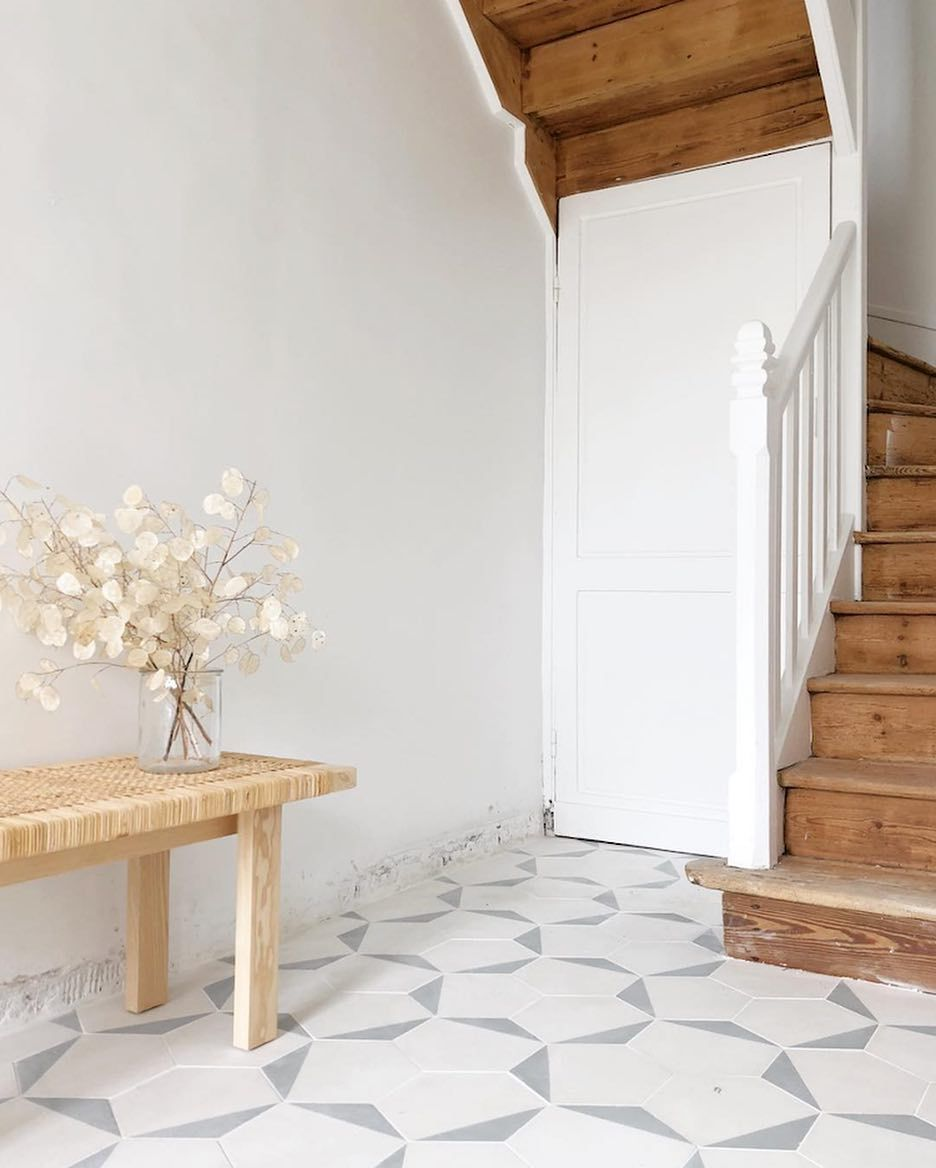 Hands Up Who Loves A Pretty Tiled Floor This Hallway In The Home Of Octobre Et Mai With Mosaic Del Sur Tiles C My Scandinavian Home Flooring Floor Decor