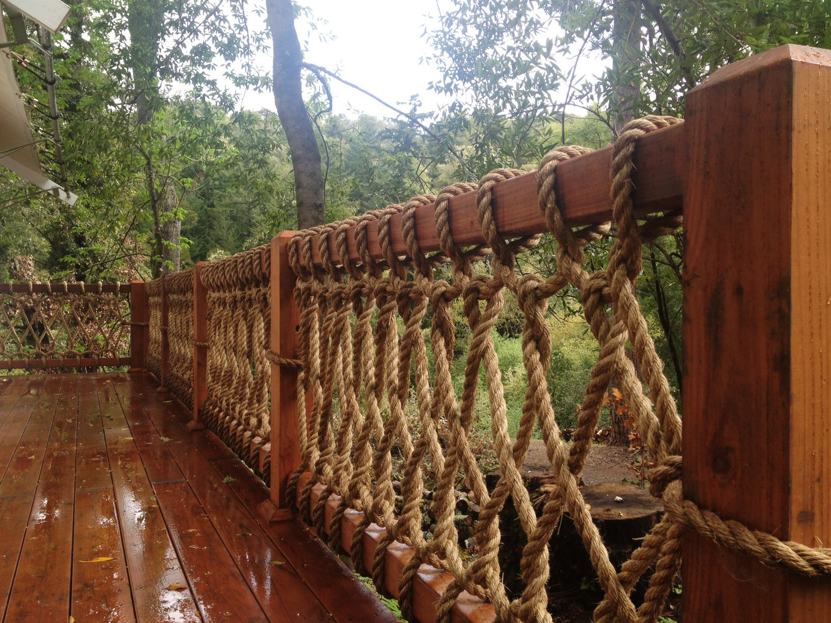 Art fence rope design photos decks pinterest decking for Garden decking banister