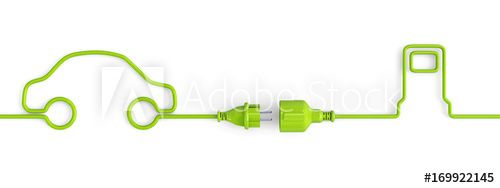 Green power plug connection cable between car and service station shape - open , #Sponsored, #connection, #cable, #plug, #Green, #power #Ad