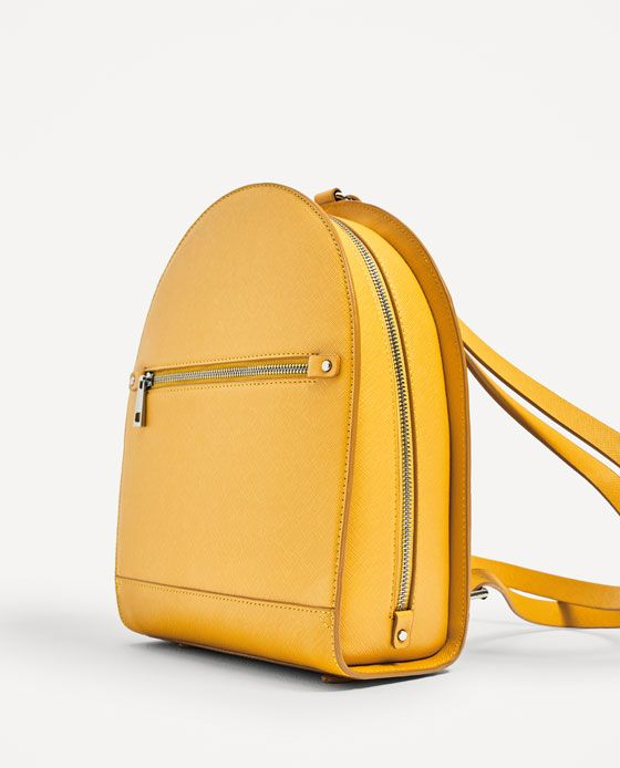 4b714b9cc4d ... Image 4 of STURDY BACKPACK WITH ZIPS from Zara . ...