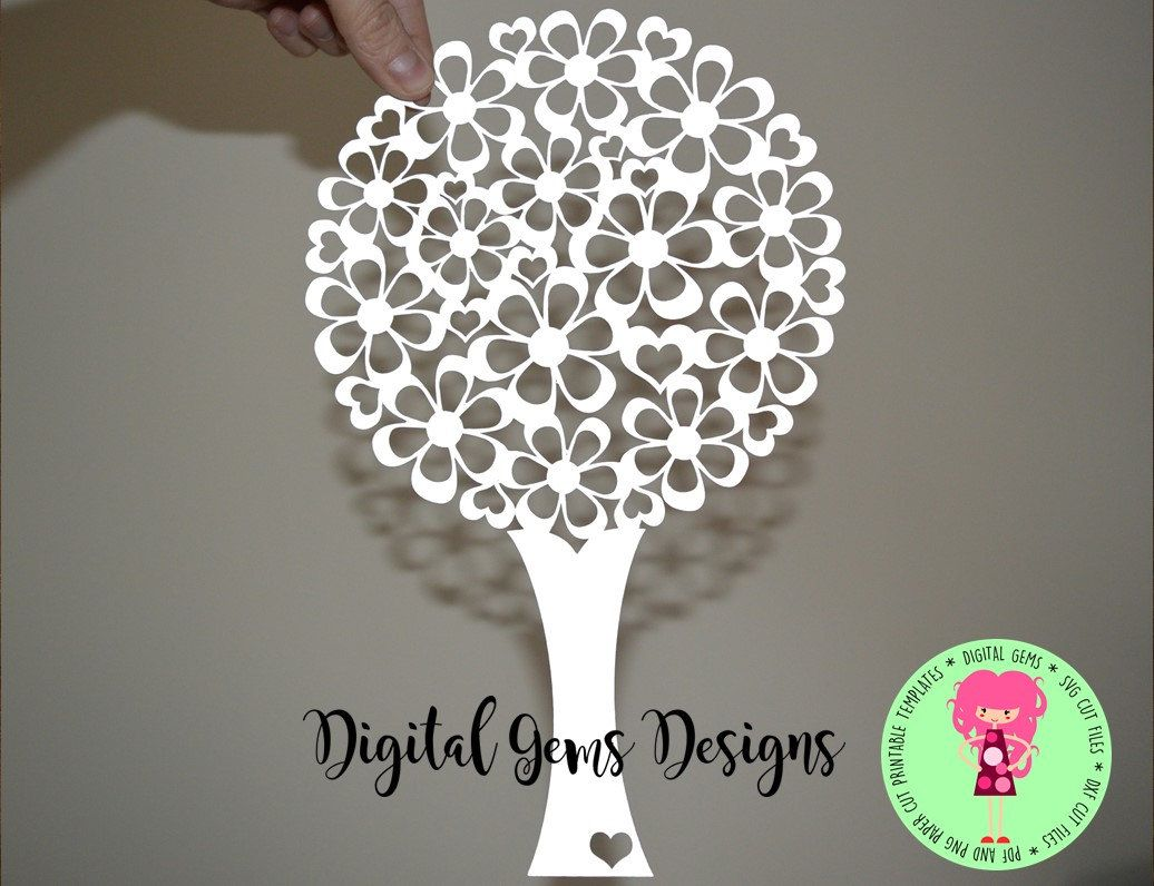 Tree Paper Cut Svg Dxf Eps Files And Pdf Png Printable