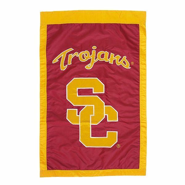 Usc Trojans Banner Flag 27 99 University Of Southern California Usc Trojans House Flags