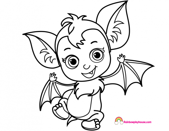 Baby Nosy Bat Vampirina Printable Coloring Page | Crafts 4 Boog ...