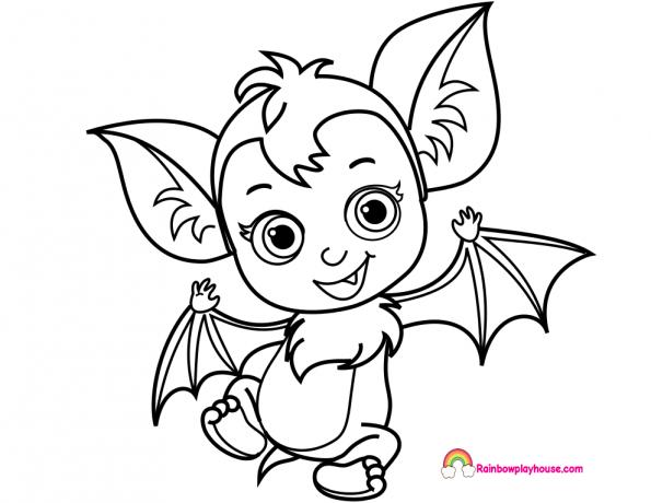 Baby Nosy Bat Vampirina Printable Coloring Page Coloring