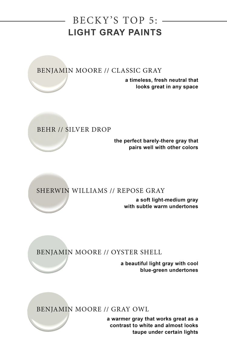 My Top 5 Favorite Light Gray Paint Colors You Just Can T Go Wrong With These Options But Always Remember To Some Cardstock Samples And See How They