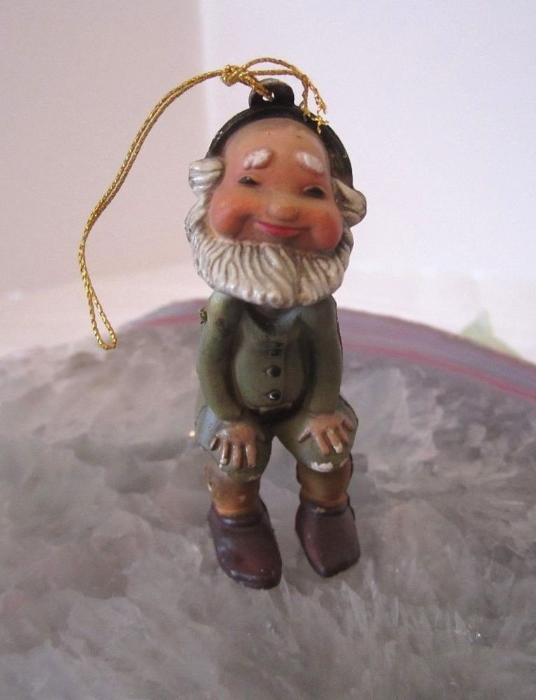 Vintage Garden Gnome Christmas Ornament Elf Old World Dwarf Laughing Fairy  Christmas Things, Christmas Elf - Vintage Garden Gnome Christmas Ornament Elf Old World Dwarf Laughing