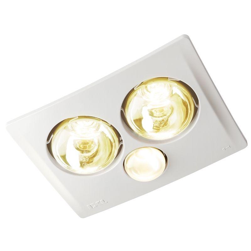 IXL Tastic 2 x 375W Triumph 3 In 1 Bathroom Heat Fan Light ...