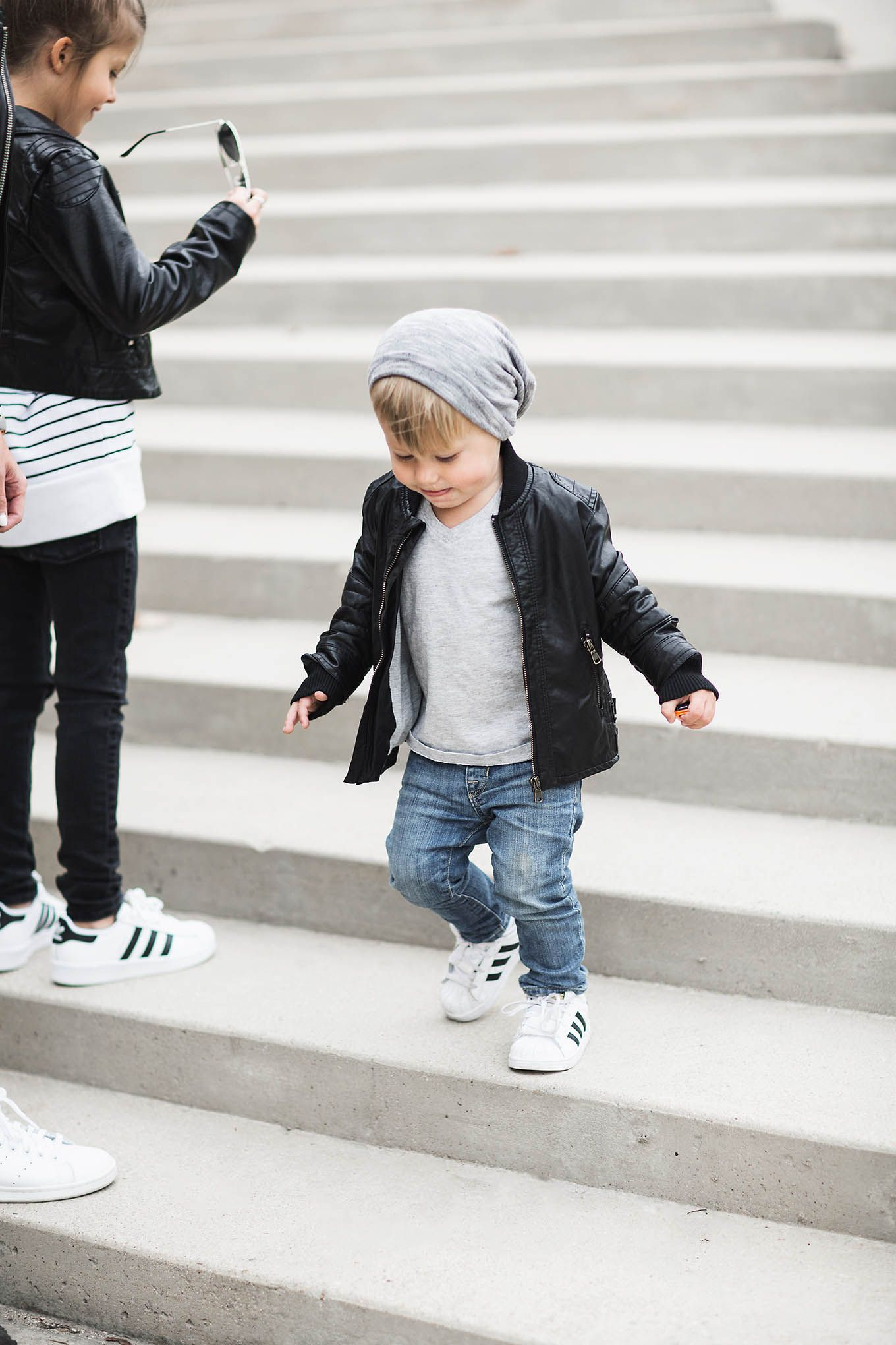 A Family Leather Look Hello Fashion Kids Leather Jackets Boy Outfits Toddler Winter Fashion [ 2040 x 1360 Pixel ]