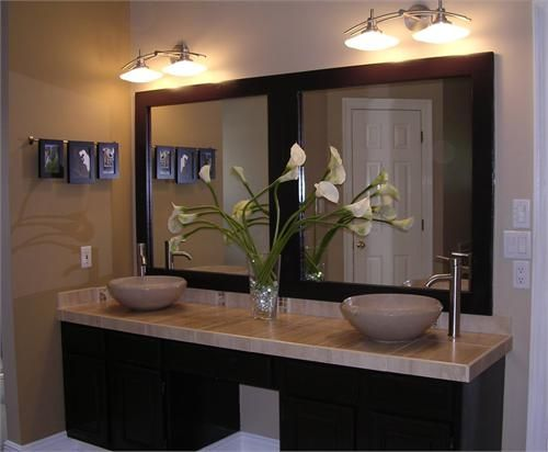 Charming Square Wood Frames Framed Mirror   Getting Ideas For Bathroom Mirror Re Do