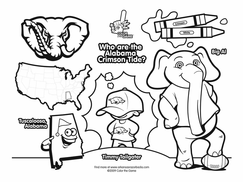 funny coloring pages for kids alabama crimson tide college football