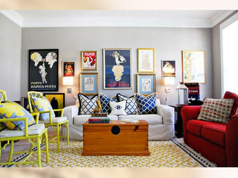 Good Plain Living Room With Colorful Accents At Awesome Colorful Living Room  Design Ideas