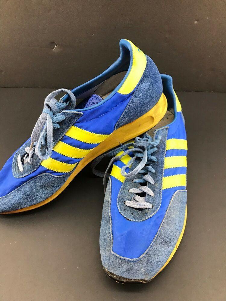 estético Comerciante itinerante Amabilidad  Vintage Adidas TRX Running Shoes Rare #3320-02 SZ 9.5? Yugoslavia Blue  Yellow | Vintage adidas, Adidas, Running shoes