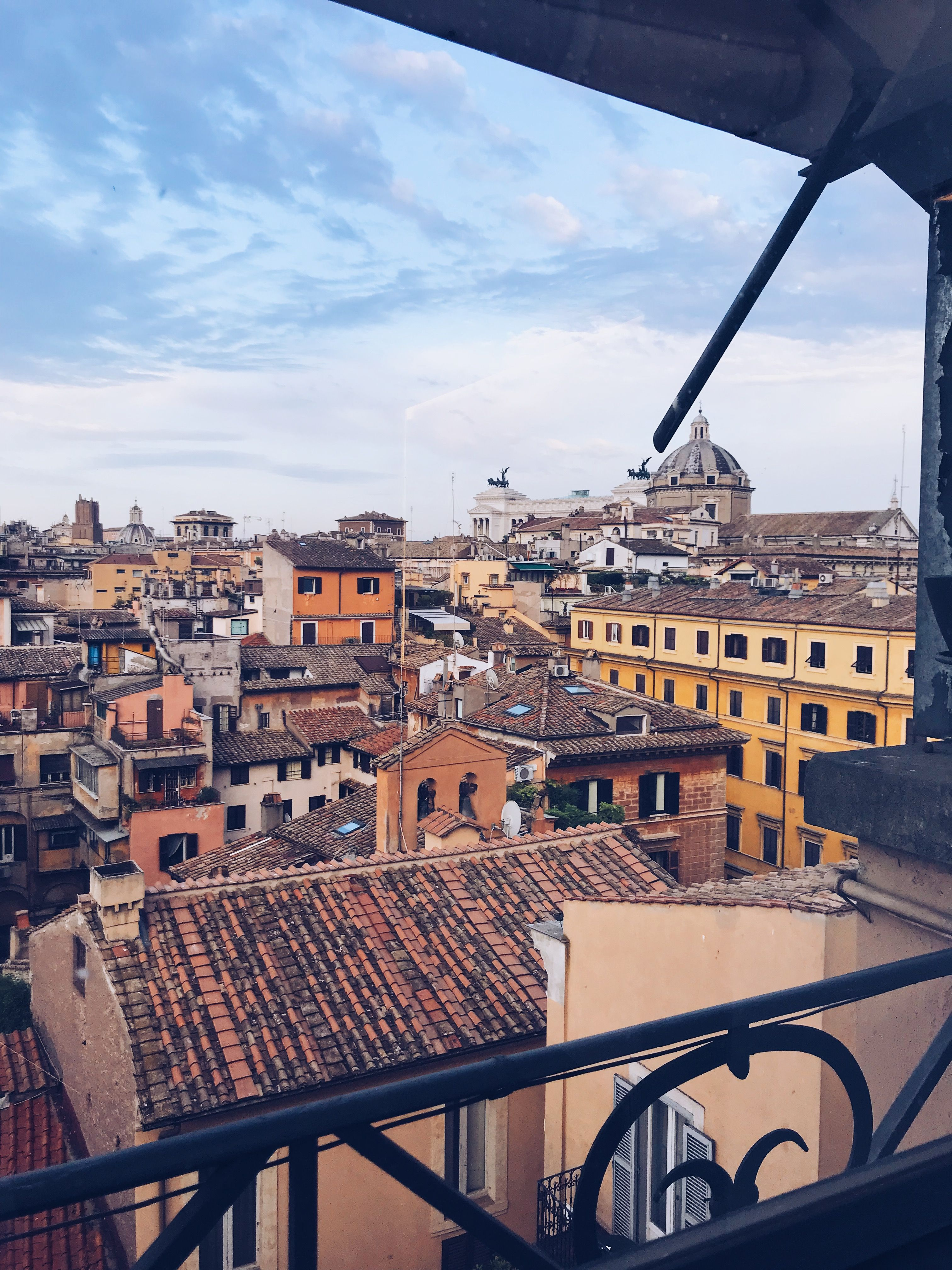 Can You Spot The Huge Monument Visible From The Rooftop Terrace In The Center City Of Rome You Can See So Much Of The Cit Italy Tours Visit Italy Italy Travel