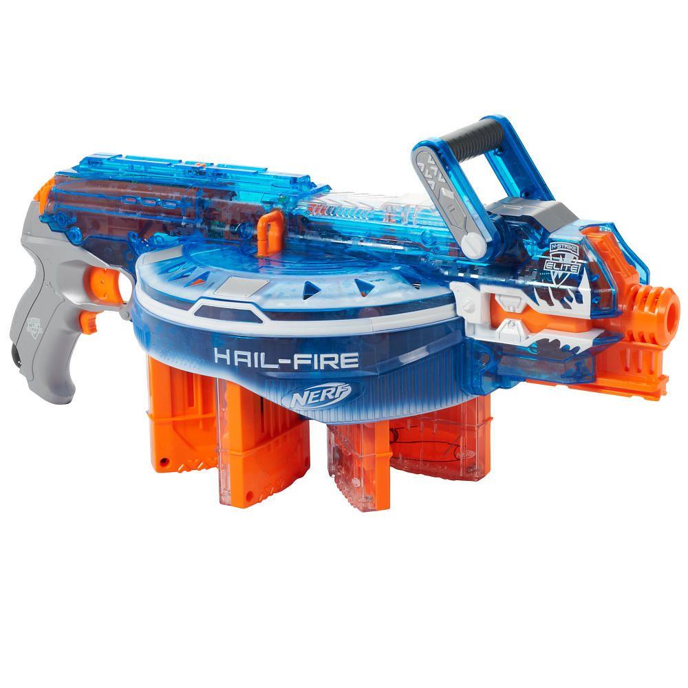 NERF N-Strike Elite Sonic Ice Series Hail-Fire Blaster - Hasbro - Toys