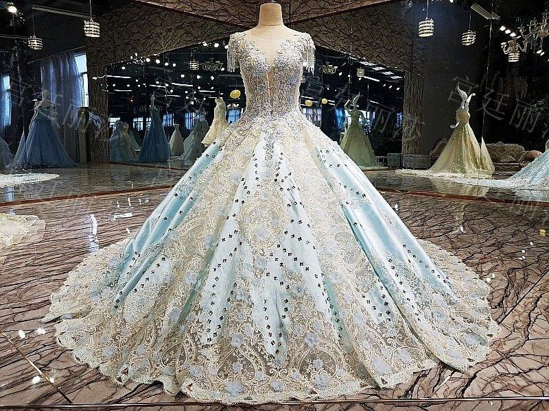 Luxurious Wedding Gown Princess Dress Code Wgl02 Prices Short Tanpa Ekor
