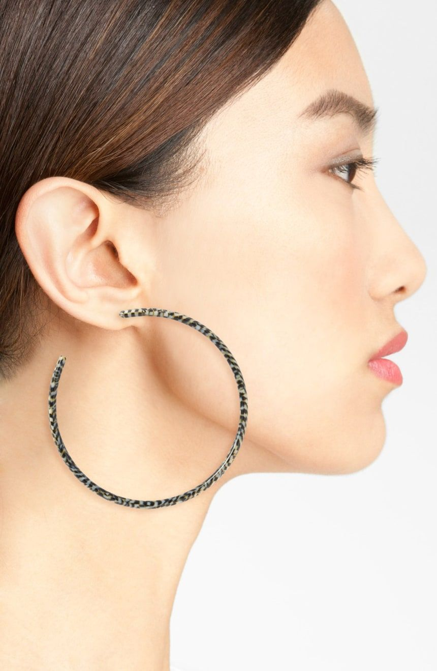 L Erickson Jumbo Hoop Earrings Nordstrom