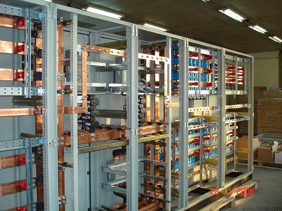 Low voltage switchboard in construction phase tech