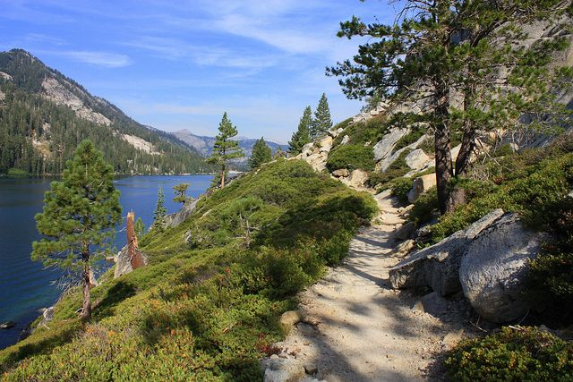 Pacific Crest Trail, Lower Echo Lake by Ray Bouknight,