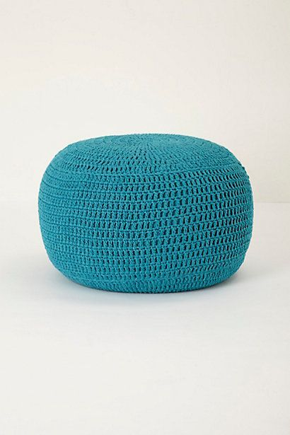 Handwoven Hacky Tuffet - The larger size is amazing!