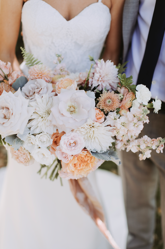 Dusty Peach Bridal Bouquet Photo By Salt Water Studios Florals
