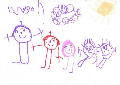 Image result for children's drawings family