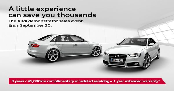 A Little Experience Can Save You Thousands The Audi Demonstrator