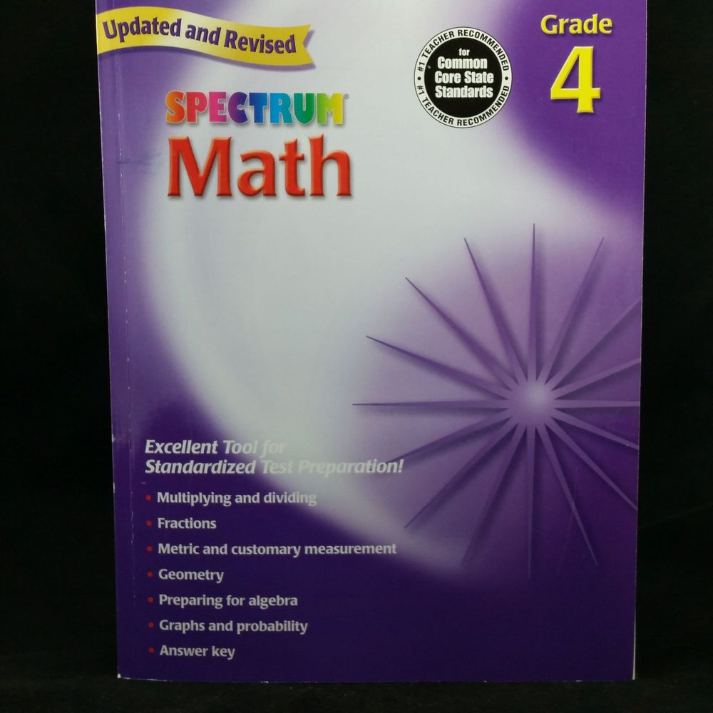 Spectrum math grade 4 for common core state standards workbook spectrum math grade 4 for common core state standards workbook answer key workbookstudyguide ad fandeluxe Image collections