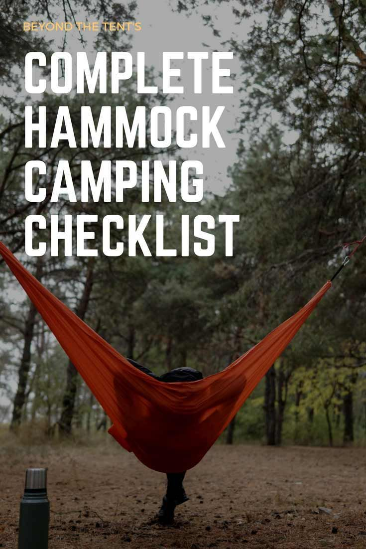 What type of hammock camping gear do you need and how do you set it
