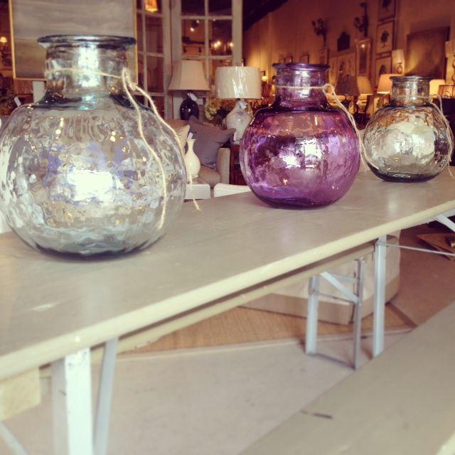 Laura Ramsey Furniture U0026 Interiors | Organic Glass Balons.  #lauraramseyinteriors #clear #lavender