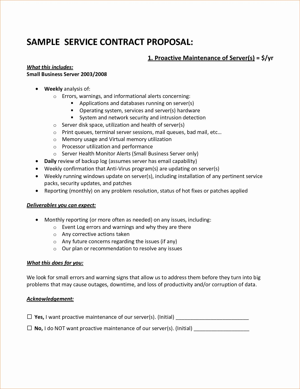 It Service Contract Template in 2020 (With images ... |Flooring Contractor Sample Proposals