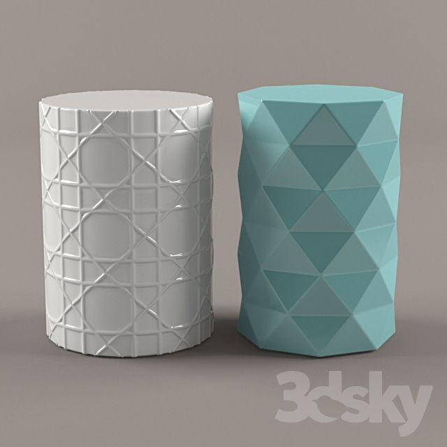 3d models: Table - Ceramic Garden Stools | 3dsky models in
