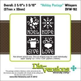 Die-Versions Whispers Die-Holiday Postage