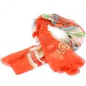 Hermes Cavalcadour Orange Scarf 37874  $55