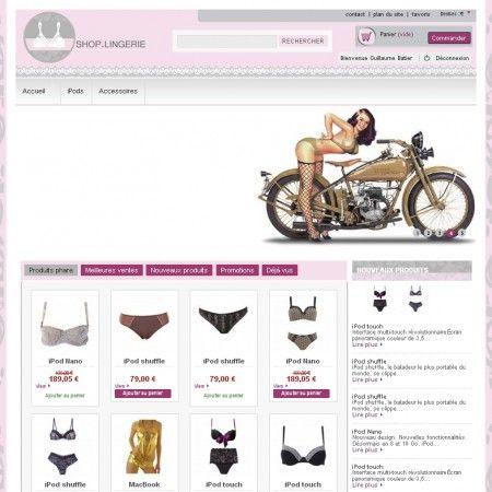 Votre boutique Prestashop 1.5  de lingerie