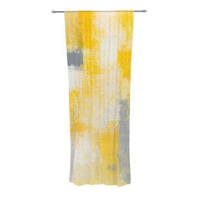 KESS InHouse Breakfast Abstract Sheer Rod Pocket Curtain Panels