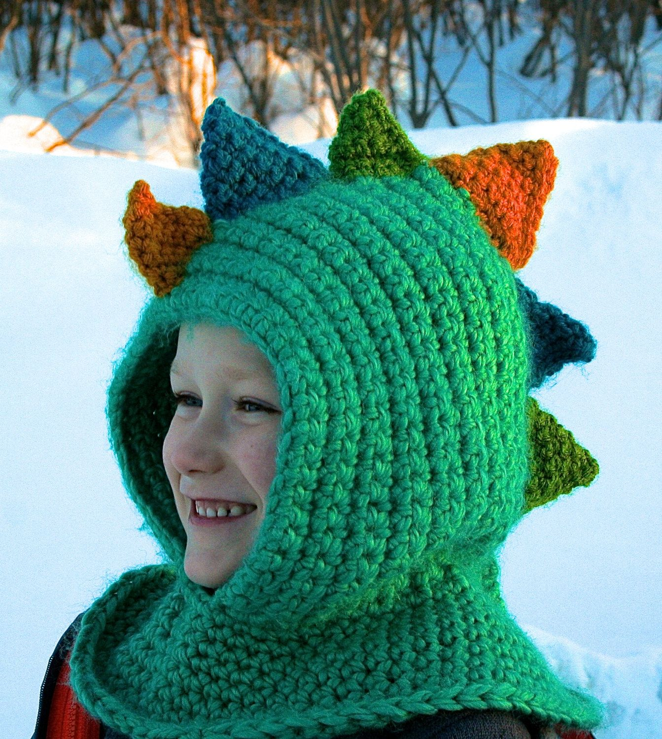 Simple crochet dinosaur scoodie hat pattern! | Crafts that I love ...