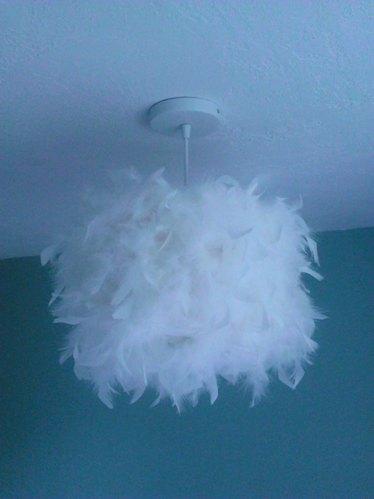 Easy DIY hanging light for teens bedroom Light from Home Depot