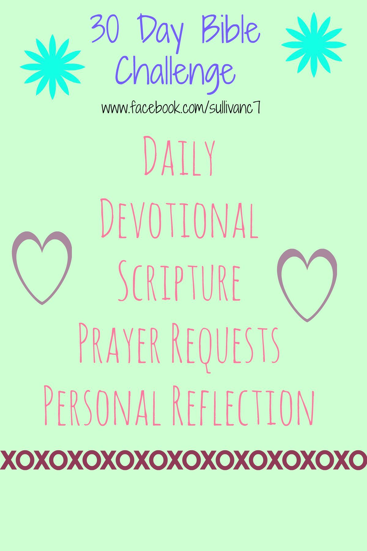 30 Day bible challenge! Click the image above to join in the fun!