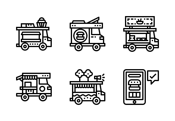 Food Truck Icons By Smalllike Truck Icon Food Truck Truck Art