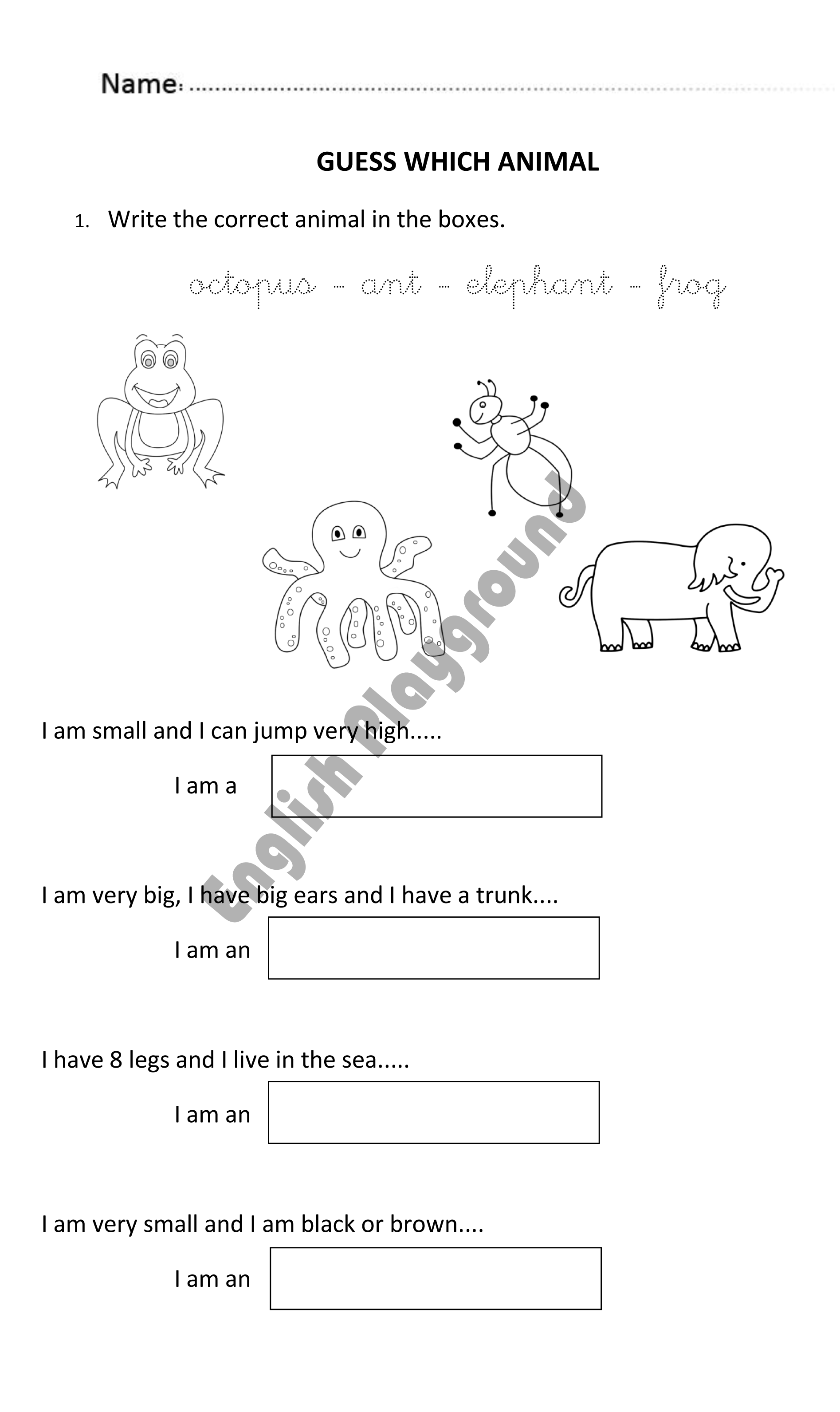 Fun worksheet to guess animals for 5 and 6 years olds. #AnimalWorksheet    Activities for 6 year olds [ 3182 x 1894 Pixel ]