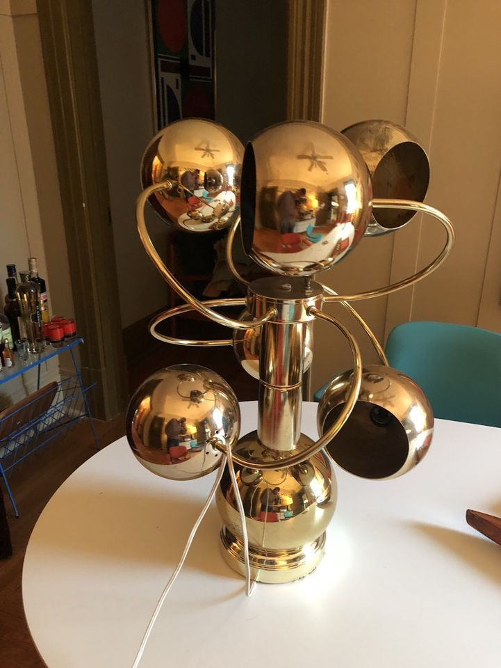 Functional Mid Century Modern Lamp Brass 1960 S Space Age Looks