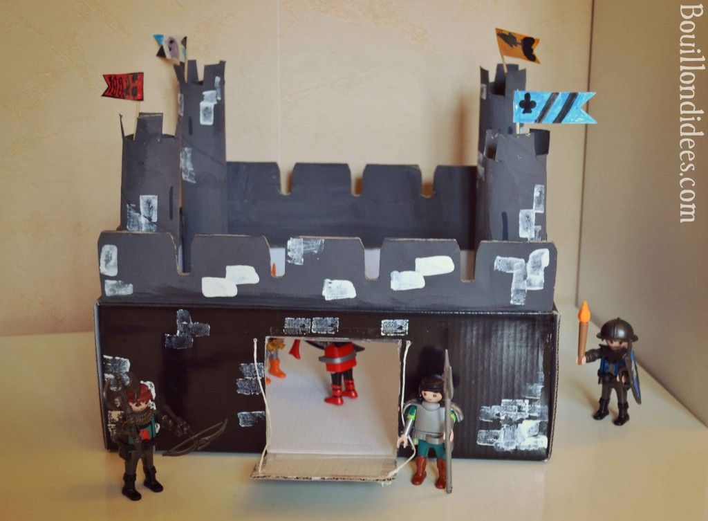 diy activit manuelle chateau fort moyen age chevaliers. Black Bedroom Furniture Sets. Home Design Ideas