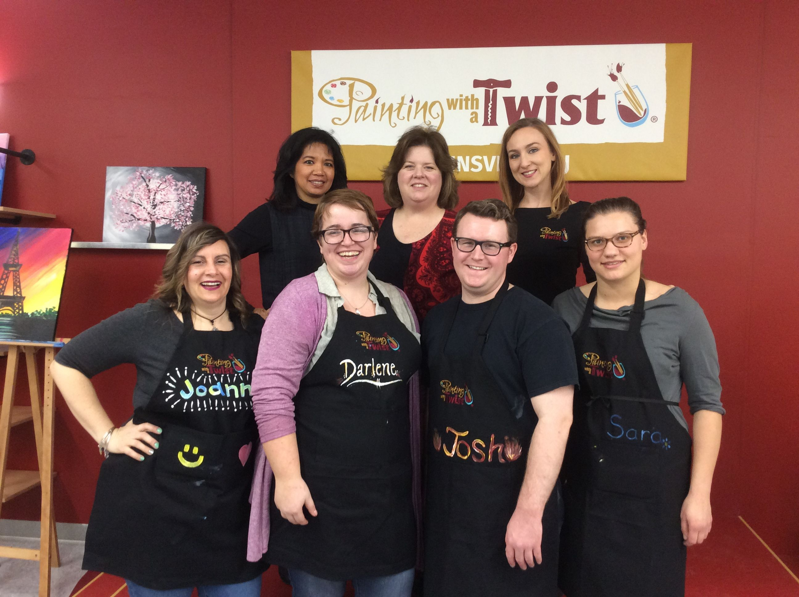 Grand Opening For Painting With A Twist Robbinsville Nj Studio