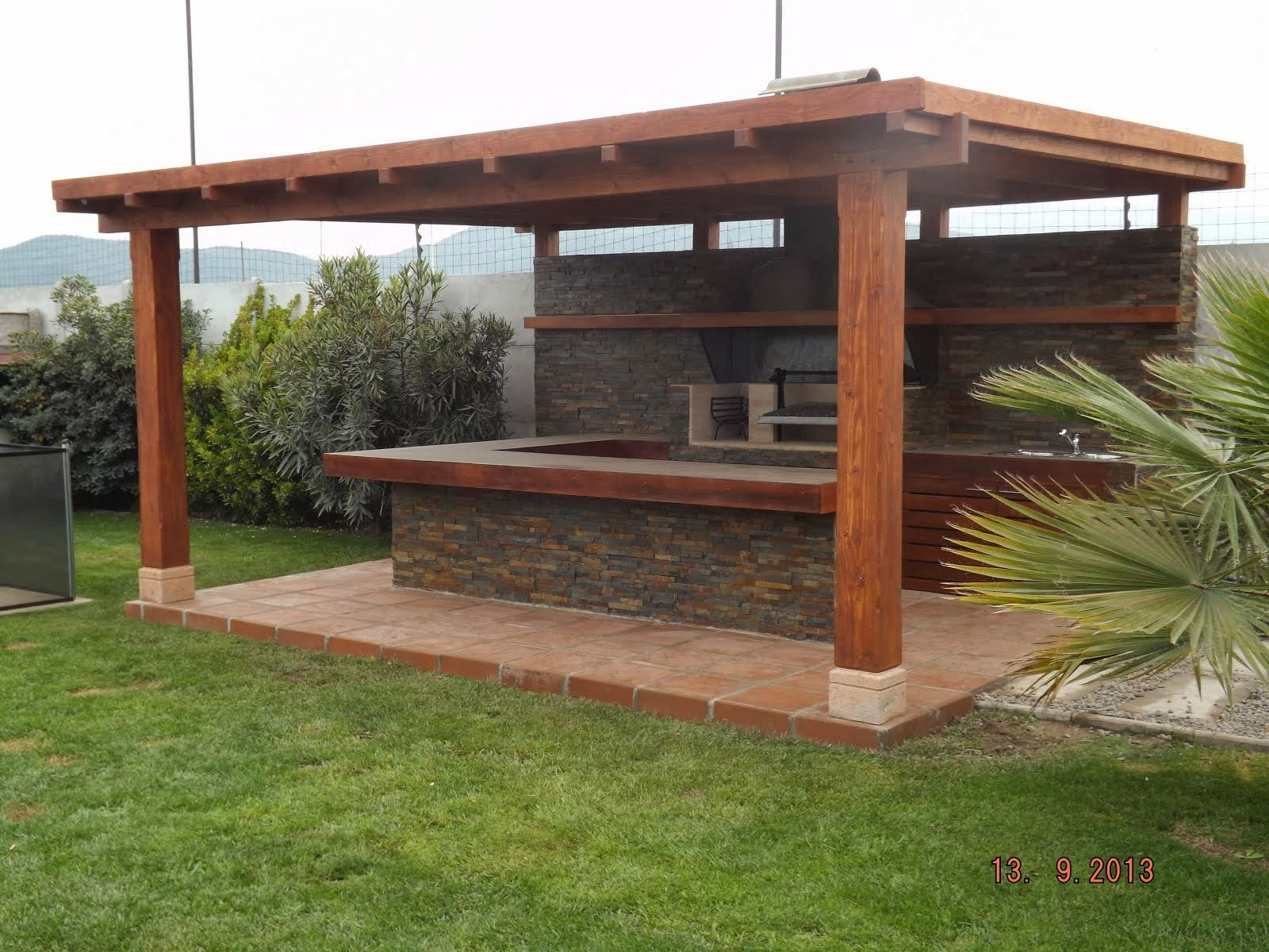 Quincho gonzalez bar pinterest barbacoa patios and - Casas rusticas con jardin ...