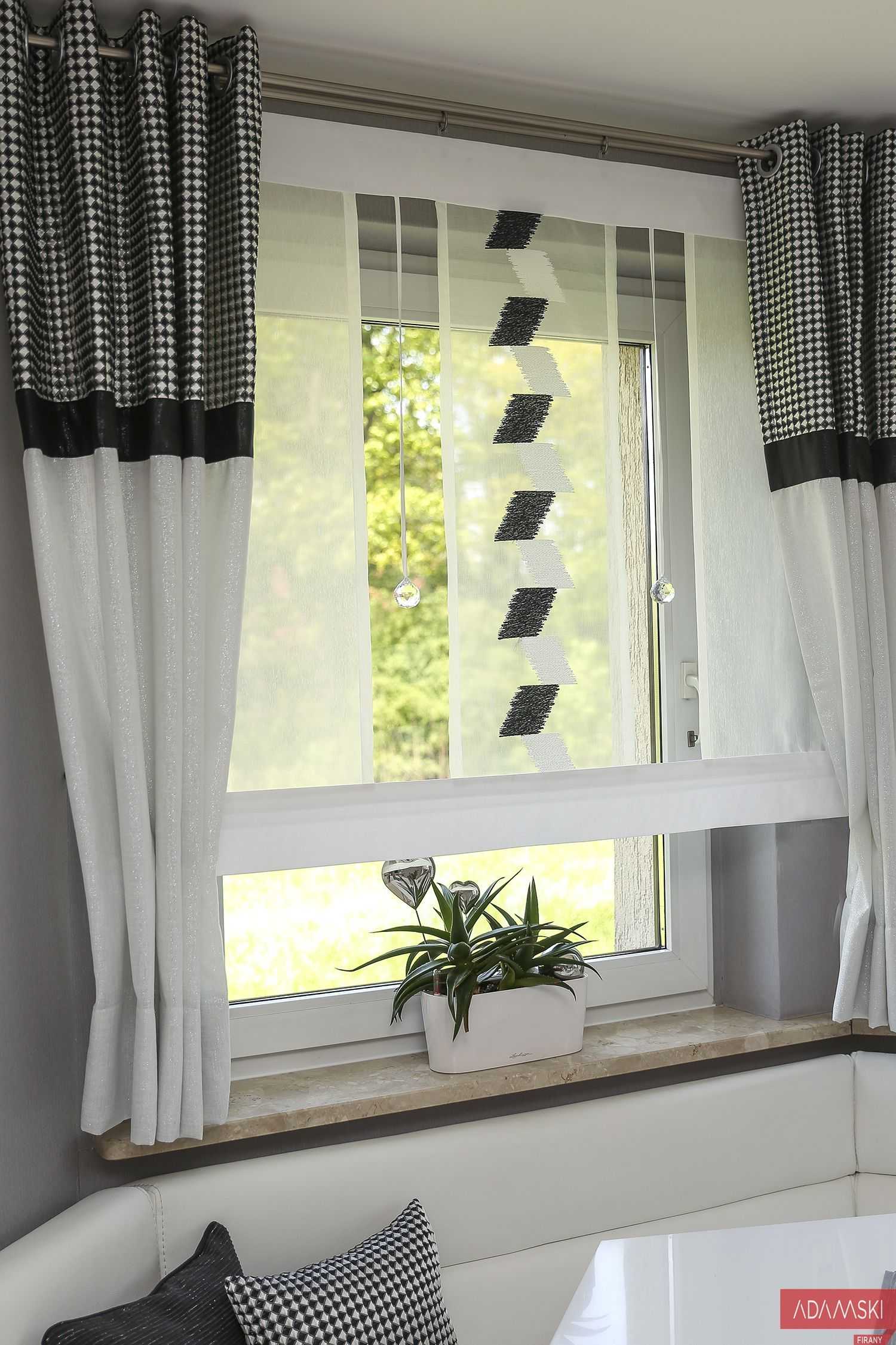 Firany Na Wykusz Kryształki Curtainsideasvalance Curtains