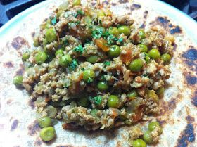 Cooking with SAHD: Keema Matar (Indian Spiced Ground Veal with Peas)