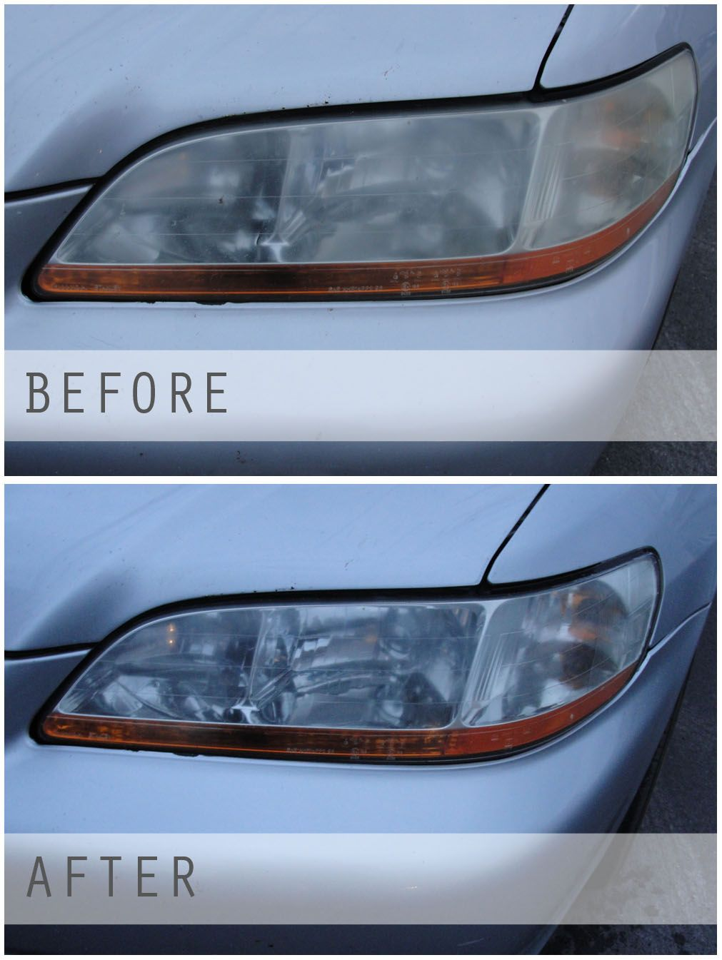 Foggy headlight clean it up how to clean headlights