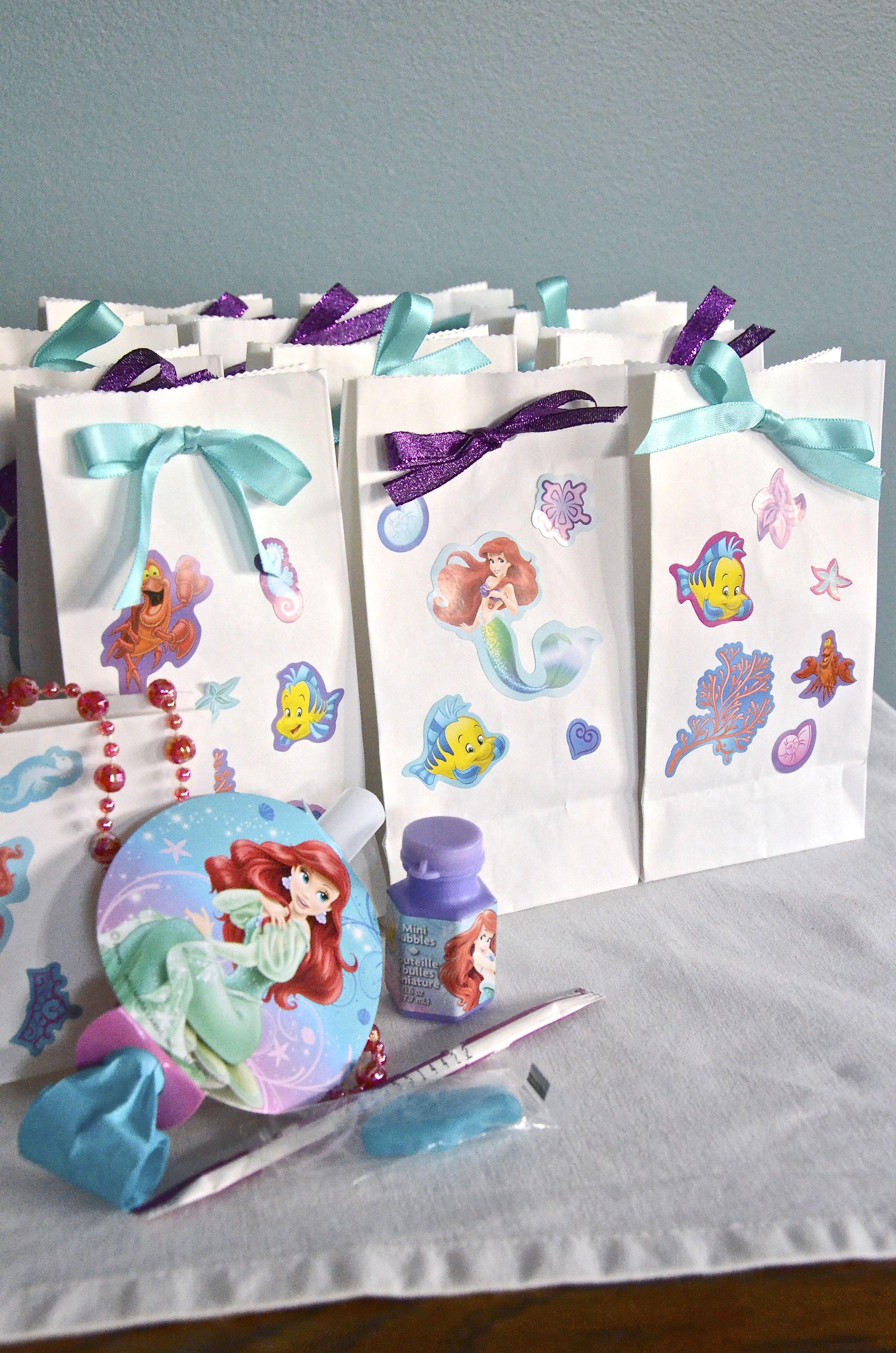 Mermaid Gift Ideas Little Mermaid Party Favor Treat Bags Mermaid Birthday