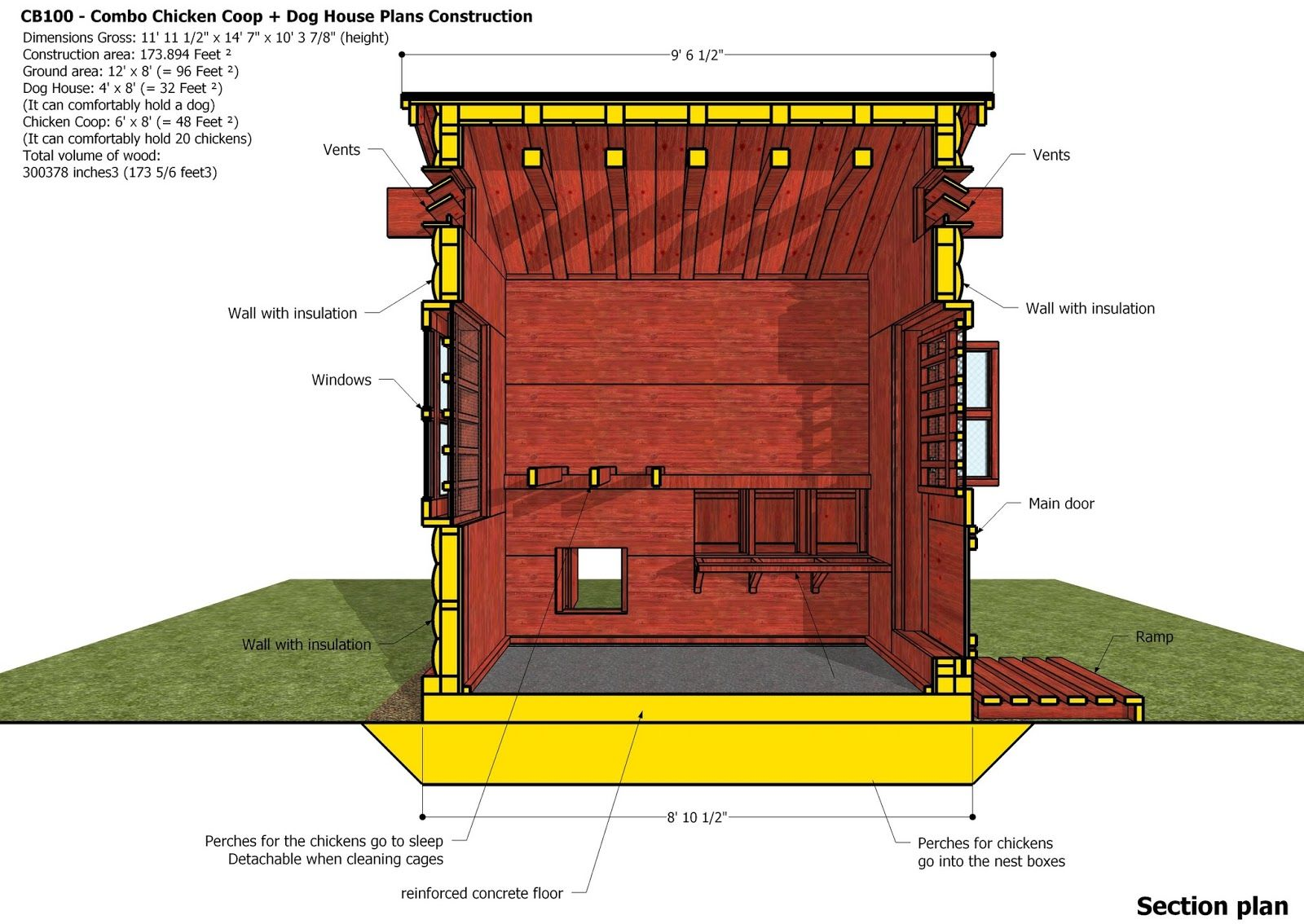 home garden plans: CB100 - Combo Plans - Chicken Coop ...