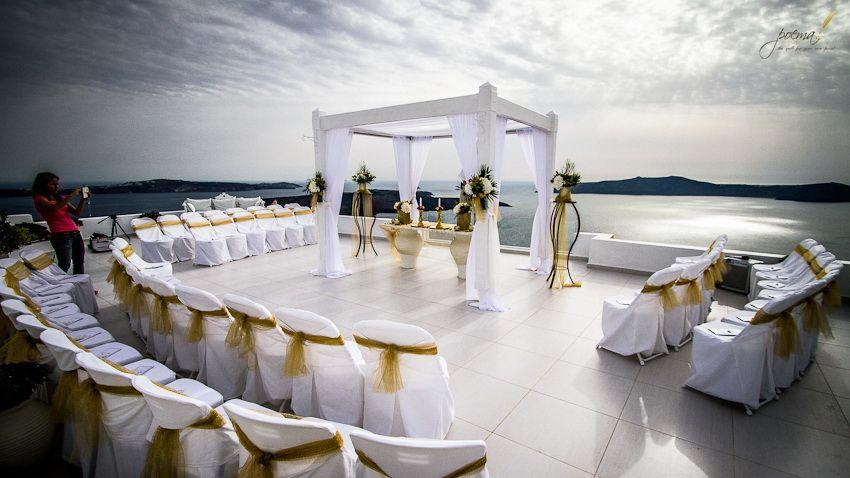 Hindu Wedding Ceremony Santorini Wedding Venue Dana Villas www ...
